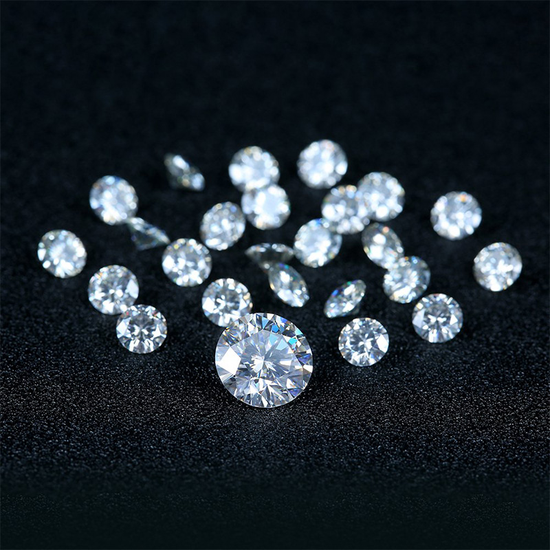 NiceGems 0.4CTW Moissanite D Color Round Excellent Heart And Arrows Cut Colorless 4.5MM lab Grown Diamond loose Stone VVS1 5