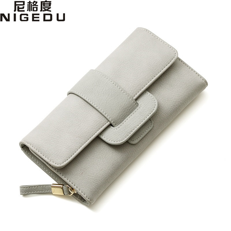 NIGEDU Brand Women Long Wallet Multi-functional Female Purse Clutch Wallets money Clip PU leather Clutches bolsa new american film doctor who cartoon wallet telephone booth printing pu leather money clip multi card long wallet