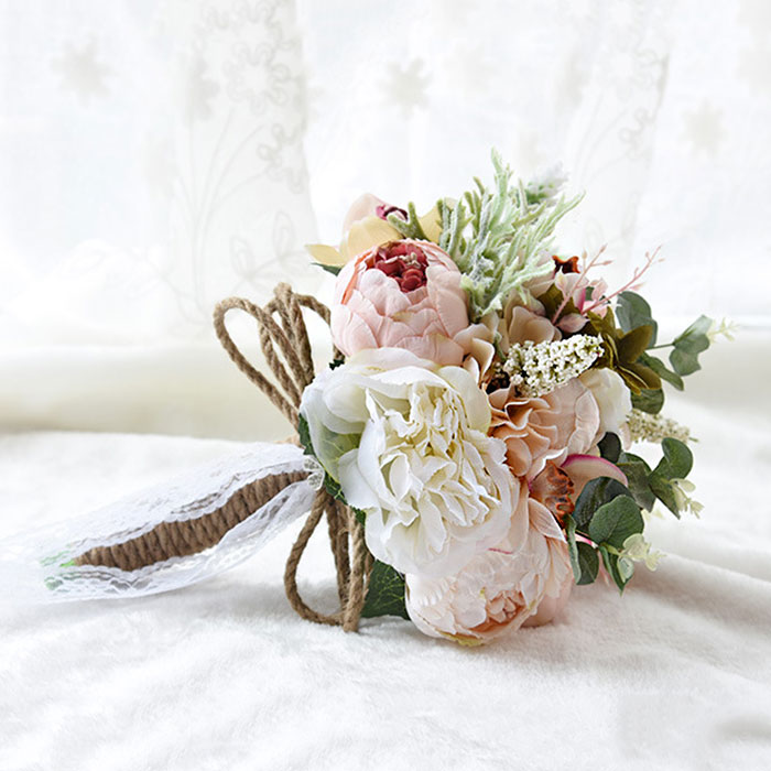 Simple Flower Bouquets For Weddings: Elegant Bridal Bouquet Brooch Accessories Simple Designed