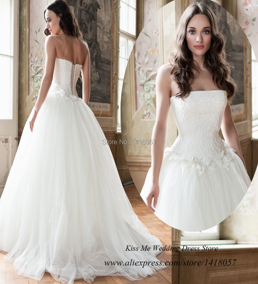 Pure White Romantic Lace Vintage Wedding Dress 2015 Robe