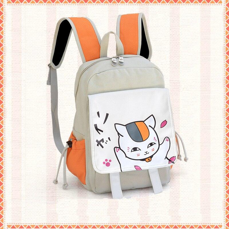 New Fashion Anime Natsume Yuujinchou Canvas Tecknad Ryggsäckar Tonåring Student Skulder Skolväskor Unisex Travel Bag