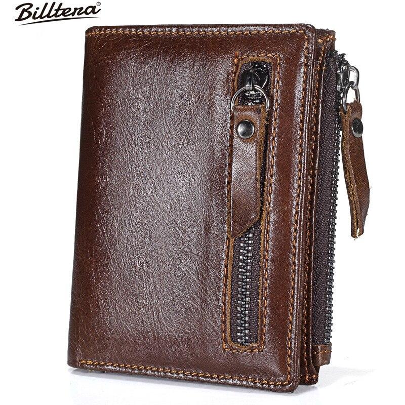 a3f7a7e0c Pánská peněženka Billtera z pravé kůže zipu 2 barevná peněženka pro ...