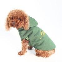 Dashion رسالة كلب هوديس الربيع الخريف الترفيه الكلب بلوزات لل صغير القط الكبير بلدغ الكلاب s إلى xxl 20e