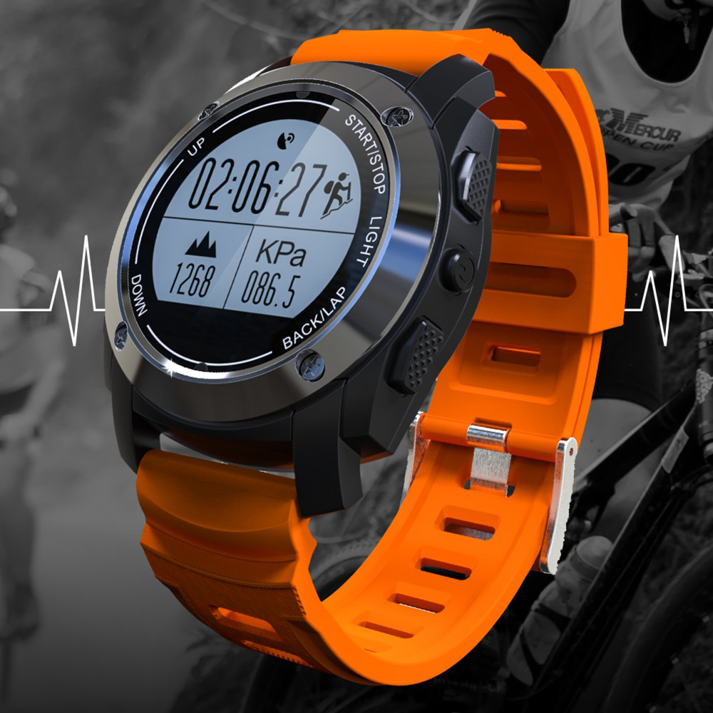 S928 GPS Outdoor Sports Smart Watch Men Wristband Waterproof Heart Rate Monitor Altitude Meter for Android IOS vs gt08 dz09 44 mm parnis white dial asian 6498 3621 mechanical hand wind men watches mechanical watches wholesale 389