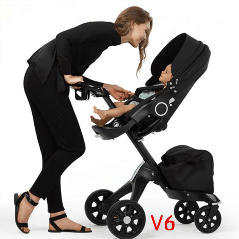 Luxury Baby Stroller 2 in 1 High Landscape Portable Baby Carriages Can Fold Strollers For Newborns russian wholesale new luxury baby stroller 3 in 1 high landscape three dimensional four round baby stroller carts strollers