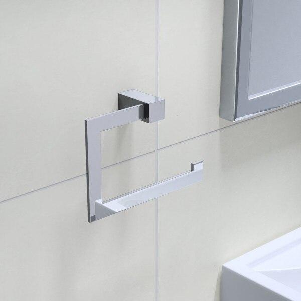 Handdoeken Badkamer Houder Badkamer Accessoires Vierkante Handdoekring  (opknoping Ring, handdoekhouder, handdoek Hanger) in Handdoeken Badkamer  Houder ...