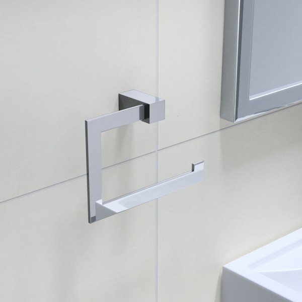 Towels Bathroom Holder Accessories Square Towel Ring Hanging Hanger