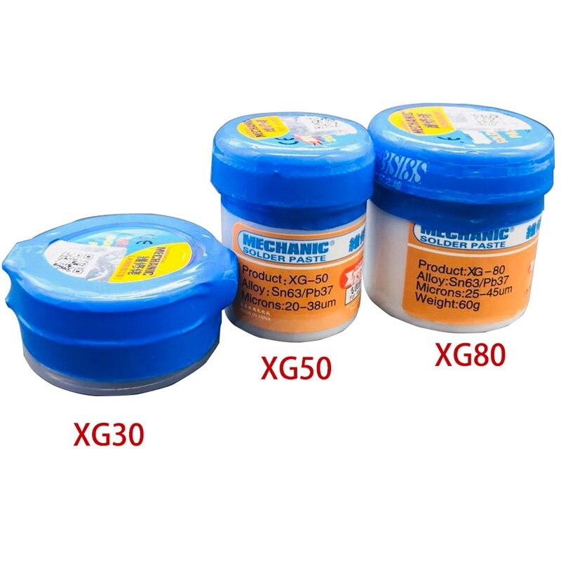 Паяльная паста Flux XG-30/40/50/80 оловянный припой Sn63/Pb67 для Hakko 936/Saike 852D + + TS100 паяльник плате ремонт