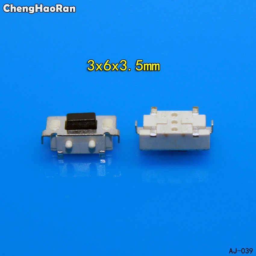 ChengHaoRan 10-200 sztuk Micro takt przełącznik dotykowy 3*6*3.5 3x6x3.5 SMD dla MP3 MP4 Tablet przycisk PC zestaw słuchawkowy bluetooth pilot zdalnego sterowania