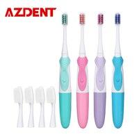 AZDENT New Professional escova de Dentes Elétrica com 2 pc Tipo Diferente Substituição Cabeças de escova de Dente Escova de Dentes Limpa Dupla Ação Cruz|electric toothbrush|tooth brush|toothbrush electric -