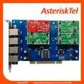 TDM410P Asterisk Карты 1 FXO + 3 FXS порта 4 порт FXO карты FXS карты, Quad Span Аналоговый Телефон карты tdm400