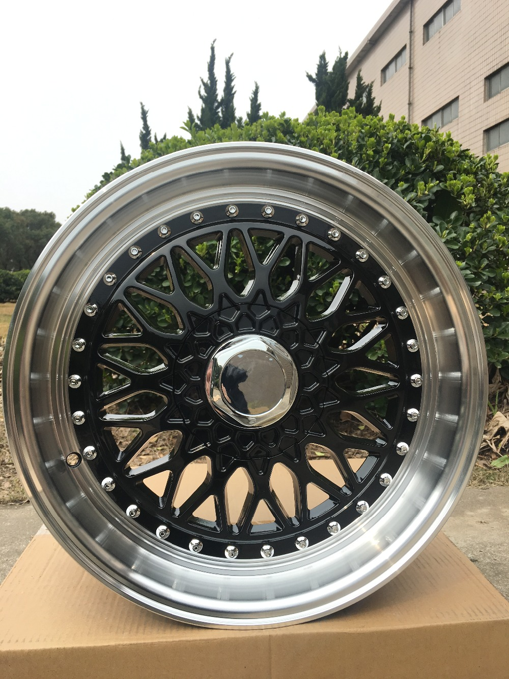 19 RS BLACK STYLE RIMS WHEELS FITS HONDA ACCORD SPORT CIVIC STAGGERED W881