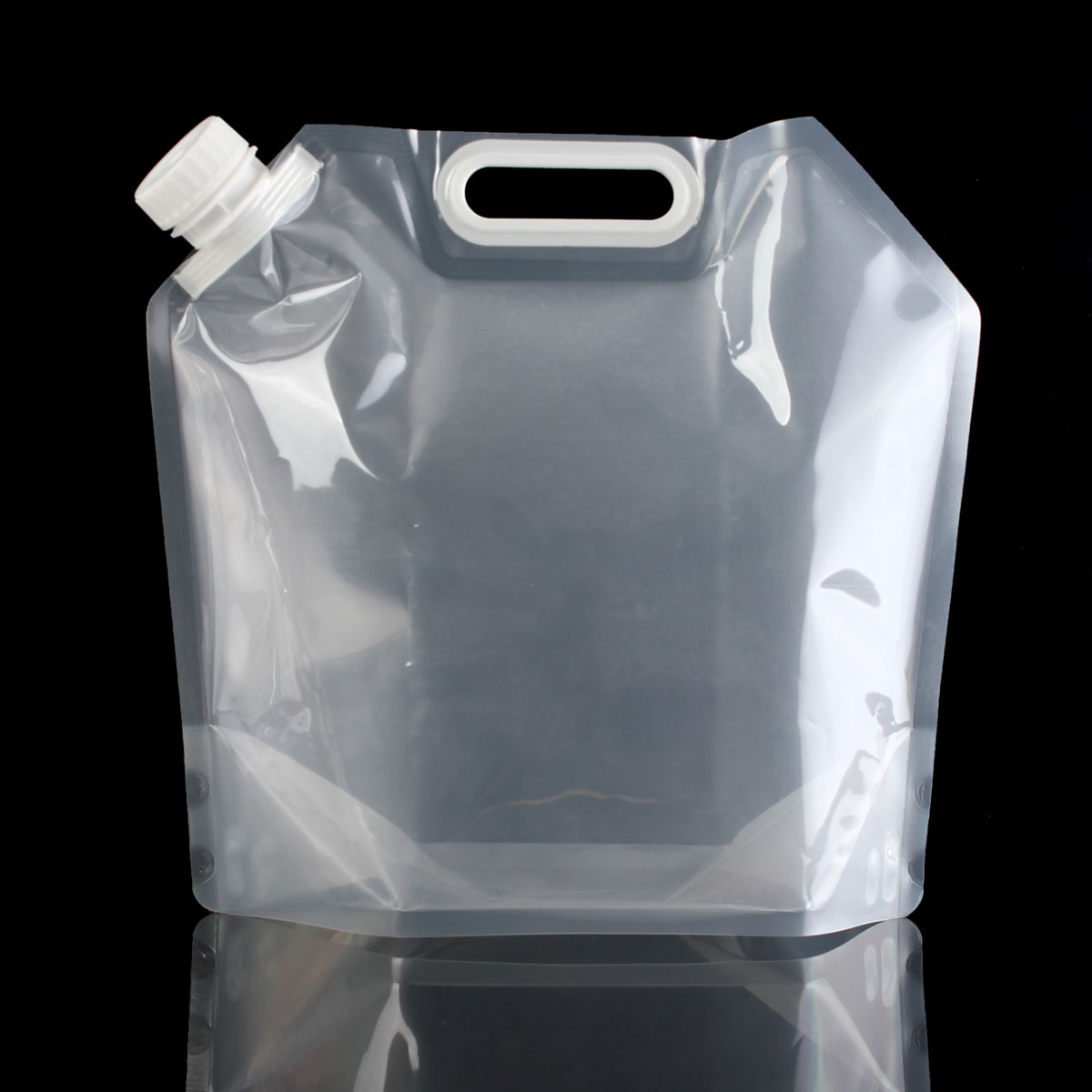 5L 10L Transparent Outdoor camping hiking collapsible water bag bucket tasteless safety seal Folding Drinking Water Storage Bags