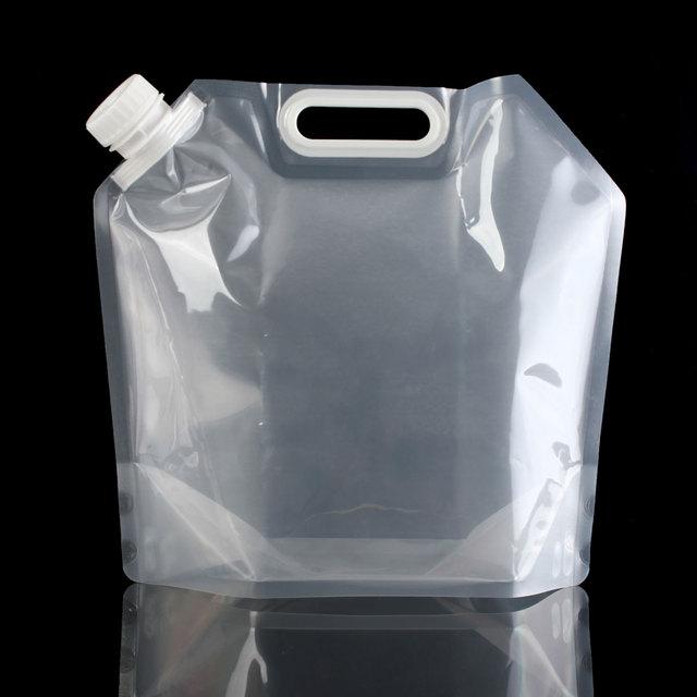 5L 10L прозрачный открытый туристический отдых складной мешок для воды ведро безвкусно безопасности печать складной питьевой воды Сумки для хранения
