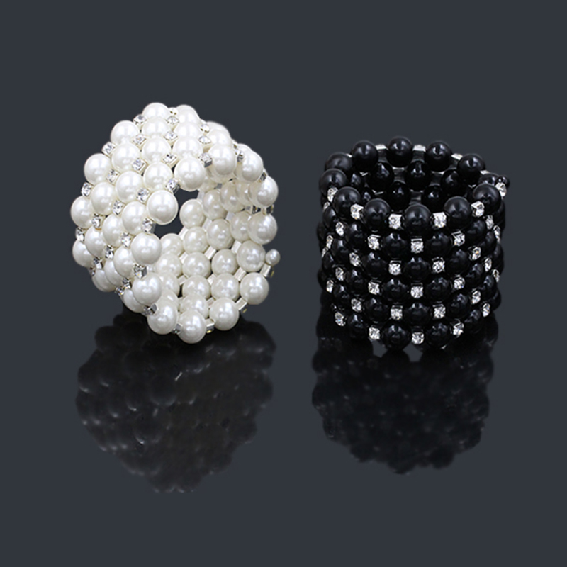 Women Charm Bracelets & Bangles Statement Jewelry Black/White ...