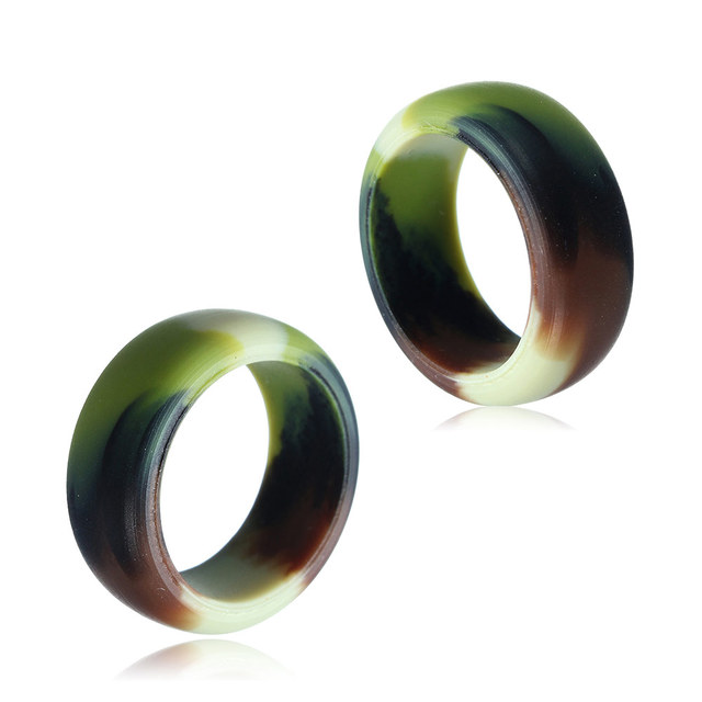 Multicolor Hypoallergenic Crossfit Flexible Silicone Wedding Rings for Women