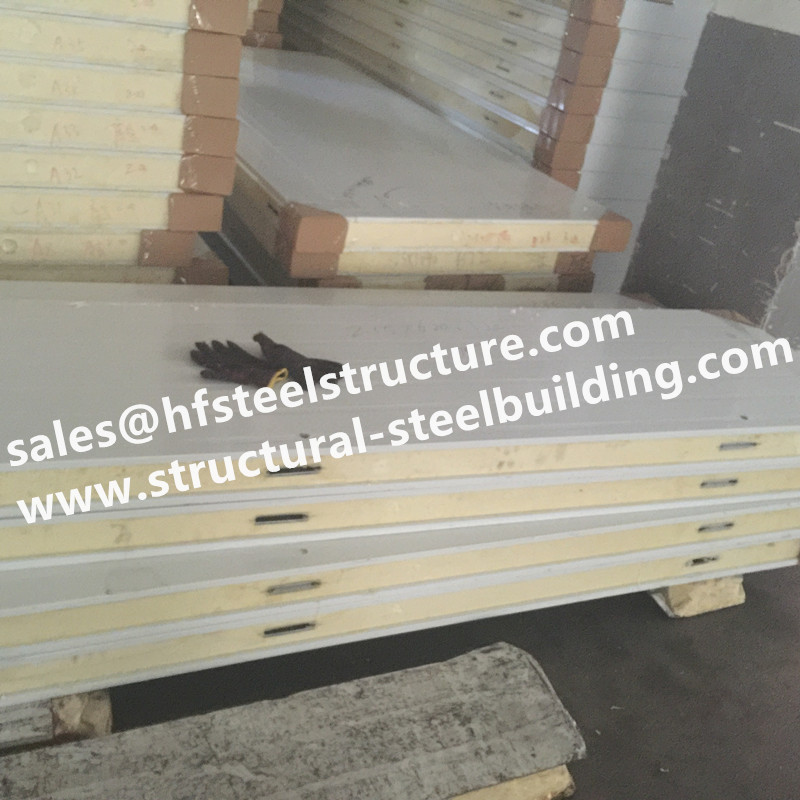 Prefabricated Walk In Coolroom 100mm Thickness Commercial Freezer Room Panels, Pu Sandwich Panels Price