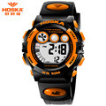 Fashion Student Watch Brand HOSKA Kids Watch Stop Watch Back Light Rubber Bracelet Digital Watch Children Boy montre sport H002