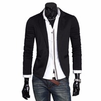 Men S 2017 New Single Button Knitting Men S Suit Jacket Casual Slim High Quality Jacket