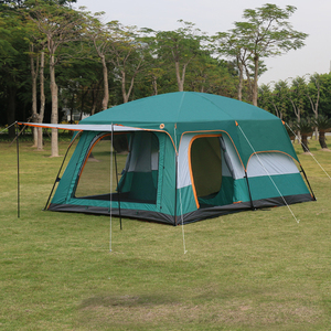 Image 3 - 4Colors Ultralarge 6 10 12 Double Layer Outdoor 2living Rooms and 1hall Family Camping Tent In Top Quality Large Space Tent