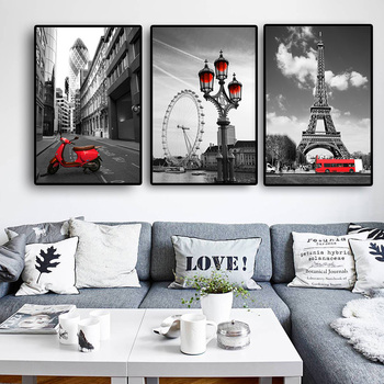 Black-White Cityscape Canvas