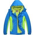 Дети верхняя одежда теплое пальто спортивный детская одежда двухэтажных водонепроницаемый ветрозащитный мальчики девочки куртки для 6 - 14 т зима и осень
