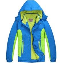 Vêtements enfants chaud manteau sportif enfants vêtements Double – pont coupe – vent imperméable garçons filles vestes pour 6 – 14 T hiver et automne