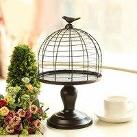 Grande Antico Decorazione Uccello Gabbia Candeliere Titolare Supporto di Candela della Festa Nuziale Decorativa Birdcage Metallo CandleStand Metallo Moderno