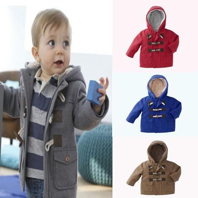 New 2017 baby Boys Children outerwear coat Fashion kids jackets for Boy girls Winter jacket Warm hooded children clothing
