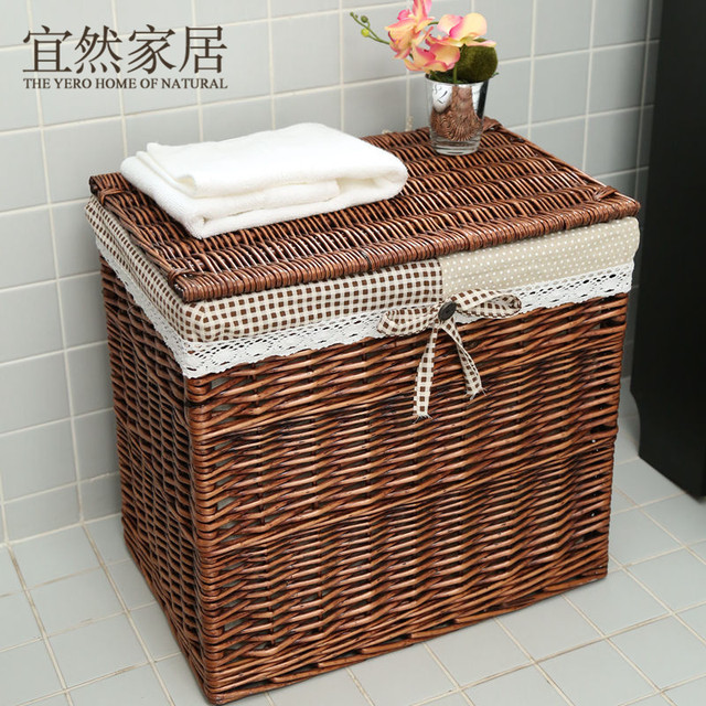 Marvelous Oversized The Cane Makes Up With Cover Dirty Clothes Hamper Or Receive  Clothes Basket Drawer Storage