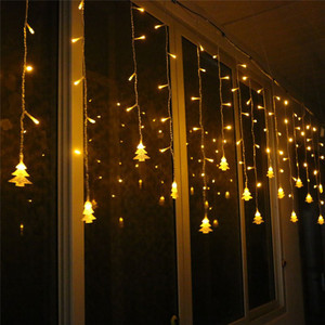 Image 3 - אורות חג המולד חיצוני קישוט 5 m לצנוח 0.4 0.6 m Led וילון נטיף קרח מחרוזת אורות גן חג המולד המפלגה דקורטיבי אורות