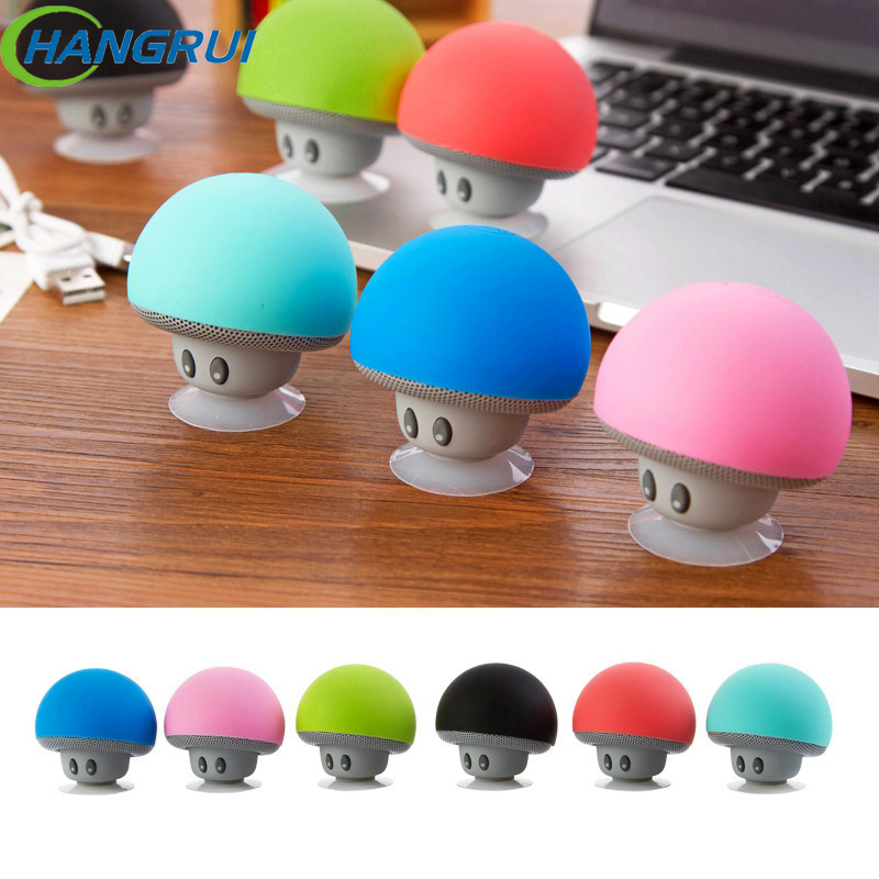 Mini Bluetooth Speaker Sucker Stand Fungus Portable Mushroom Stereo Wireless Bluetooth Speaker for iPhone For Xiaomi Computer
