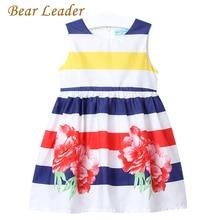 Bear leader meisjes zomer 2017 merk meisjes kleding kids jurken bloemen mouwloze kinderen jurk prinses kostuum 3-7y(China (Mainland))