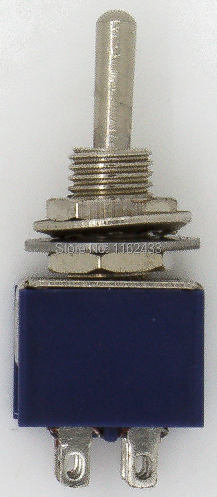 10pcs//lot MTS-202 perforate Diameter 6 mm self-Lock 6 pin ON-ON DPST 2 Positions Toggle Switch