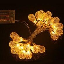 2 м 20 Фонарь Бал шнура СИД Night теплый Рождество свадебный венок декор занавес украшение огни Фея лампы