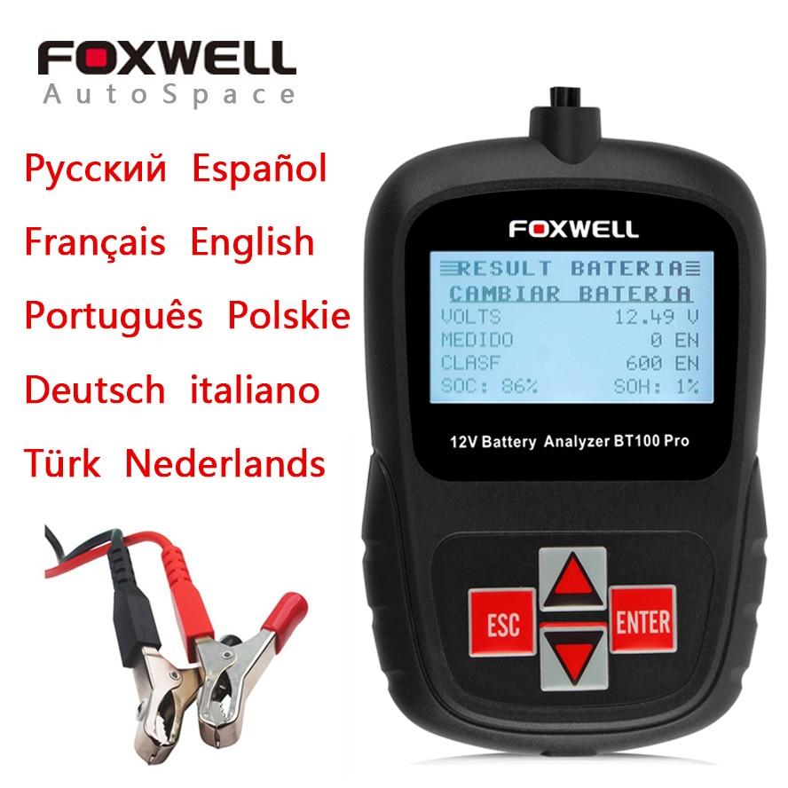 Foxwell BT100 Pro 12V 1100CCA Car Battery Tester Analyzer font b Tool b font BT 100