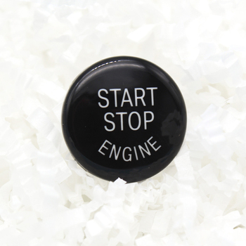 Black Engine Start Stop Switch Button Cover For BMW 3 5 Series E60 E90 E91 E92 E93 X1 E84 X3 E83 X5 E70 X6 E71 E72 E Chassis image