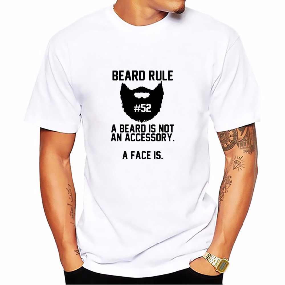 bearded sign BEARD RULE SKULL tshirt men soft Breathable comfort t shirt homme Short Sleeve Plus Size beards funny T-shirt