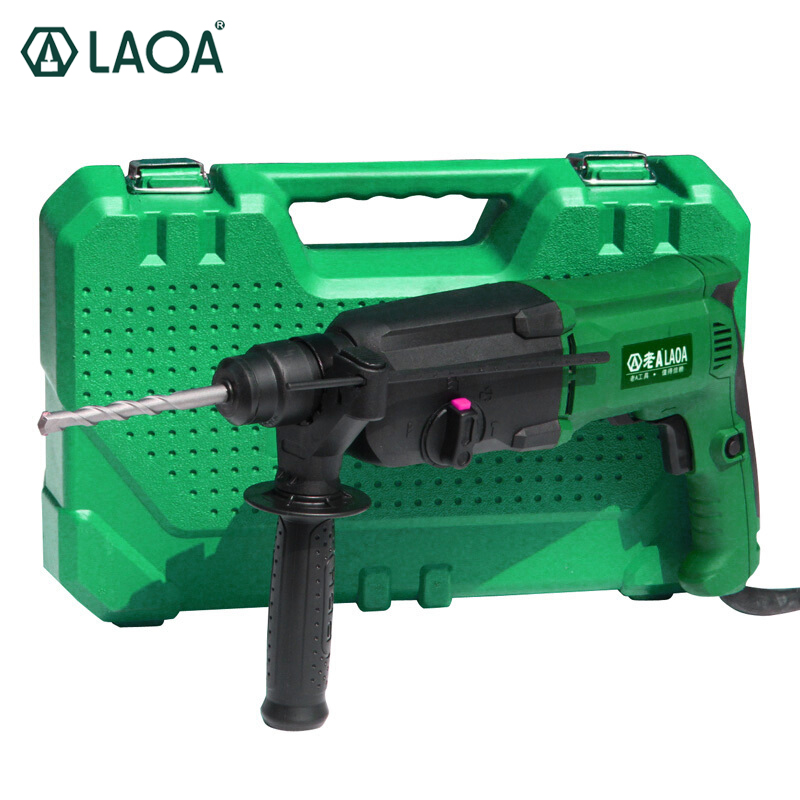 LAOA Brand 800W Impact Electric Drill Rotary Hammers Taladro Percutor Darbeli Matkap Electric Pick For Tearing and Decoration dongcheng 220v 1010w electric impact drill darbeli matkap power drill stirring drilling 360 degree rotation power tools