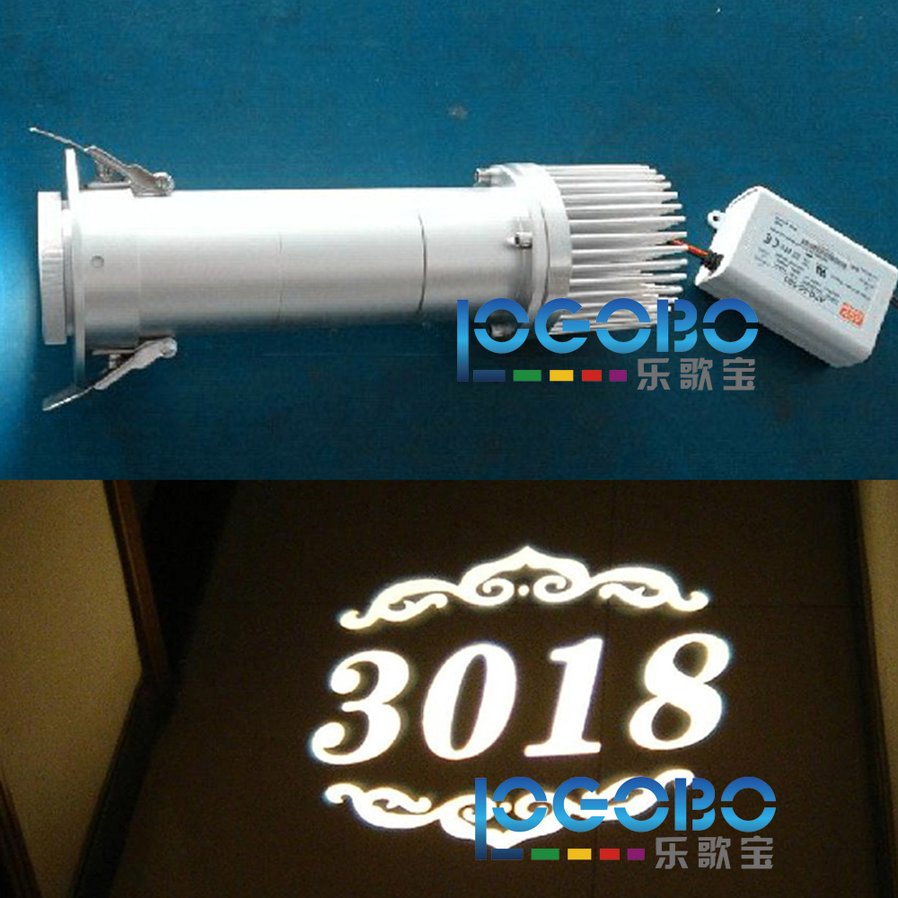 Custom 20W LED Hotel Room Numbers Design Projection Light Electric Advertising Signs Gobo Projector Wholesale And Shopdropping(China)