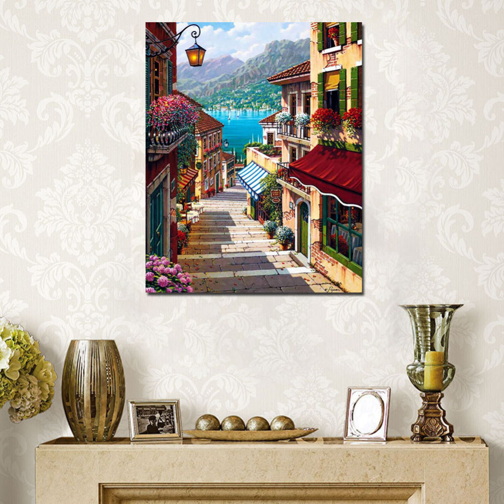 Landscape Wall Pictures Painting By Numbers On Canvas DIY ...