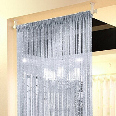 shop Door String Curtain 100cmX200cm Shiny Tassel Flash Line door Window Curtain Valance Divider Decorative for party bedroom wedding with crypto, pay with bitcoin