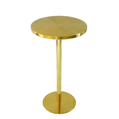Stainless Steel Gold Plated Anium High Round Table Bar Small Home Simple Modern In Tables From Furniture On Aliexpress Alibaba
