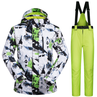 New Outdoor Sports Ski Suit Men Windproof Waterproof Thermal Snowboard Snow Skiing Jacket And Pants Skiwear Ice Skating Clothes gsou snow brand ski pants women waterproof high quality multi colors snowboard pants outdoor skiing and snowboarding trousers
