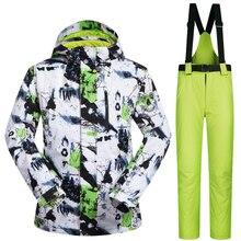 New Sports de Plein Air Ski Costume Hommes Coupe-Vent Imperméable Thermique Snowboard Neige Ski Veste Et Pantalon Vêtements de Ski Glace De Patinage Vêtements