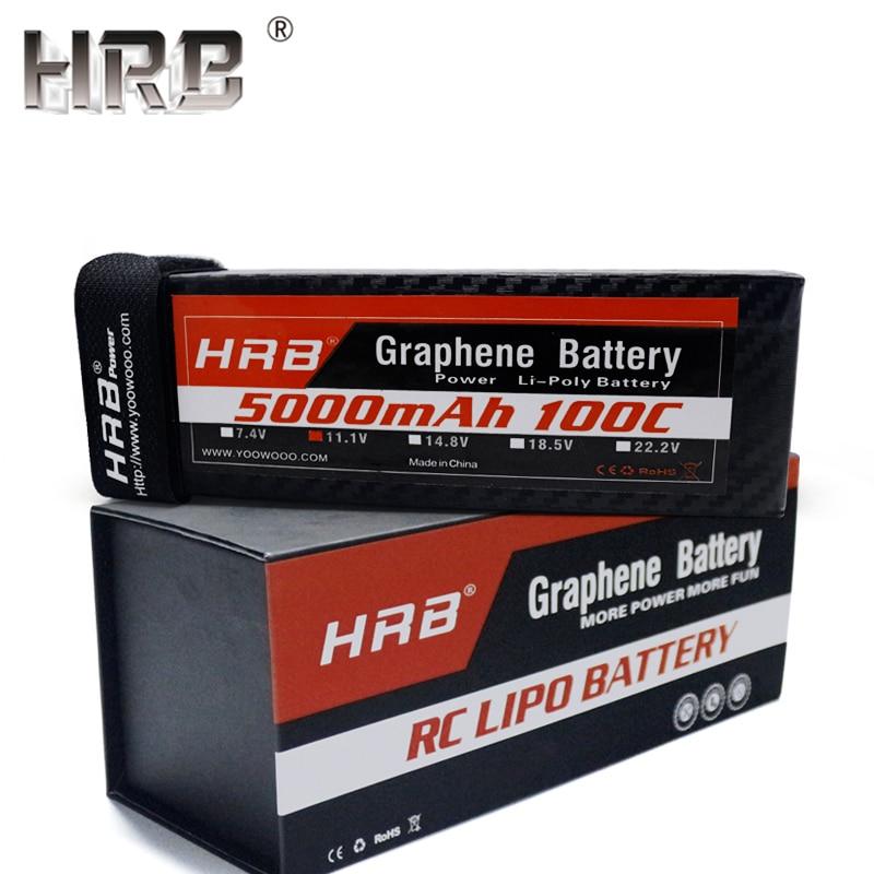 HRB Graphene 3S 11 1V Lipo Battery 5000mah 100C XT90 XT60 Deans EC5 T Plug For