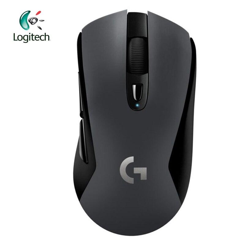 Logitich G603 souris de jeu sans fil LIGHTSPEED optique 12000 DPI Bluetooth souris pour PC ordinateur portable ergonomique agence officielle Test