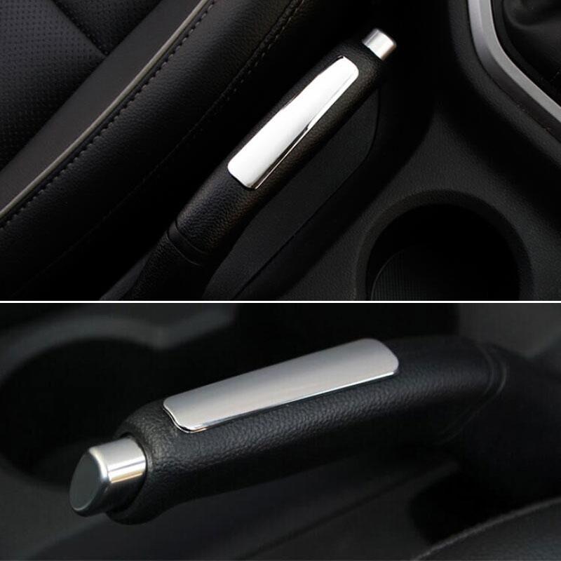 ABS Car Interior Chrome Parking Hand Brake Handle Cover Trim Sequined Decoration For Hyundai ix25 2015 Car Styling