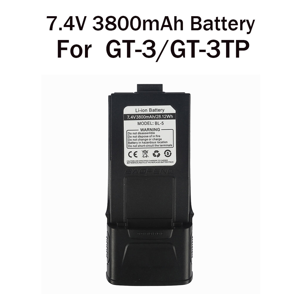 Original 3800MAH BaoFeng Li-ion Battery  7.4V For Baofeng GT-3 / GT-3TP