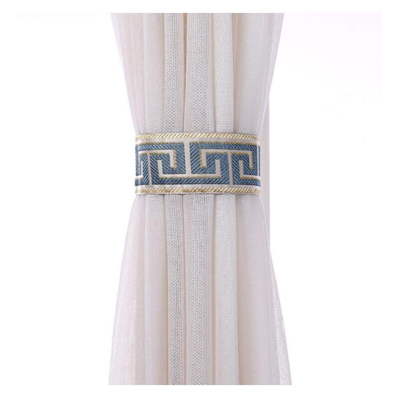 Sticky Curtain Tieback Vintage Jacquard Floral Cloth